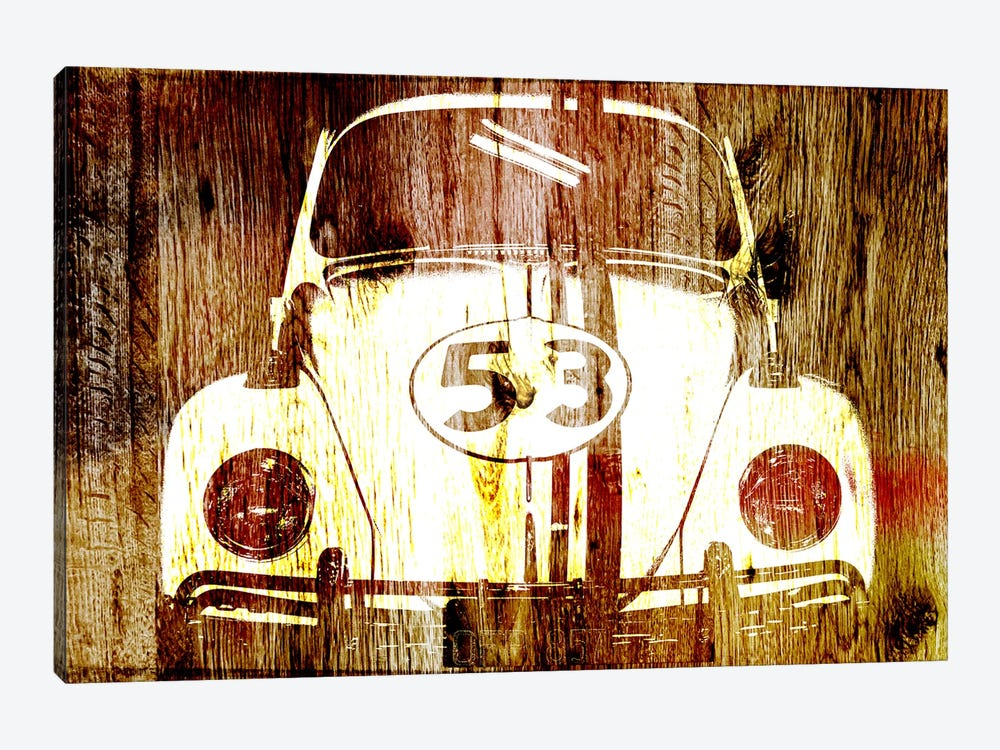 Buggy 53 Woodgrain by Unknown Artist 1-piece Canvas Artwork