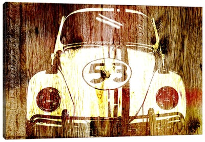 Buggy 53 Woodgrain Canvas Art Print