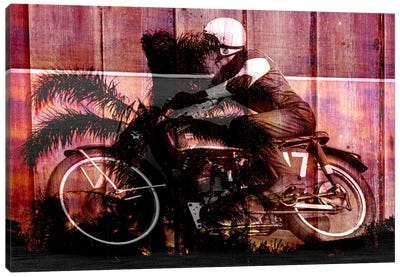 Palms Racer 17 Canvas Art Print
