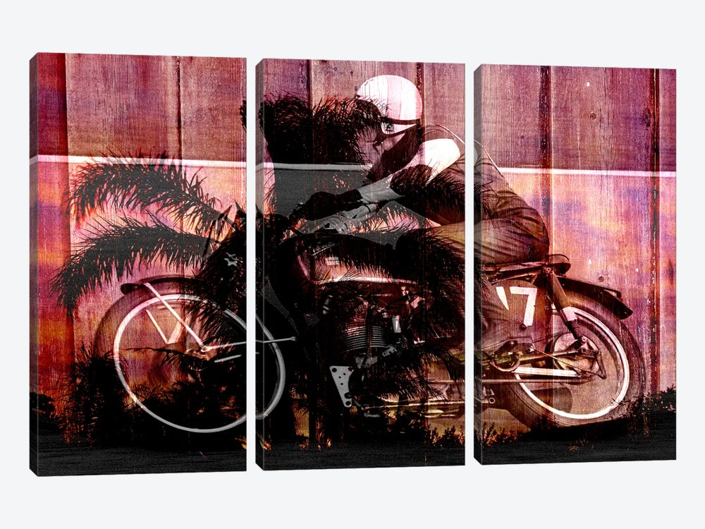 Palms Racer 17 by iCanvas 3-piece Canvas Art Print