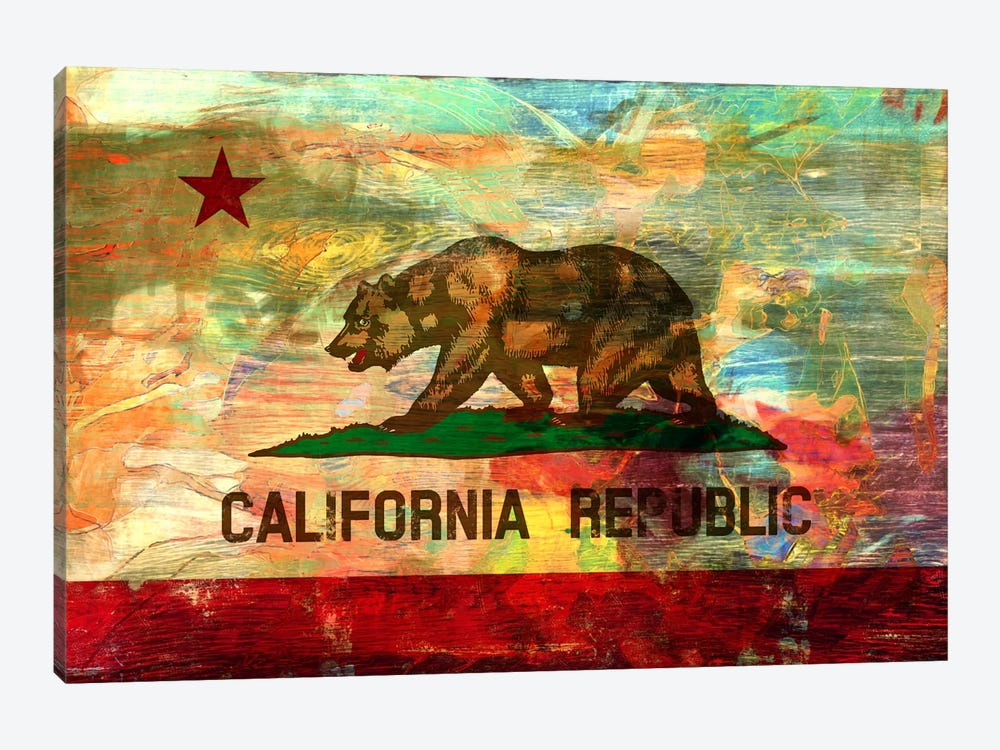 Pattern Fade California Flag by iCanvas 1-piece Art Print