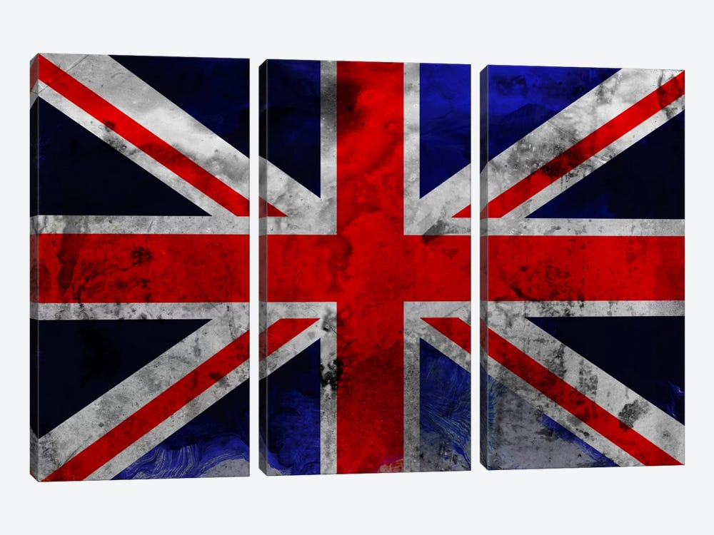 British Flag by iCanvas 3-piece Canvas Art Print