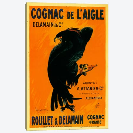 Cognac Laigle Canvas Print #VAC1008} by Vintage Apple Collection Art Print