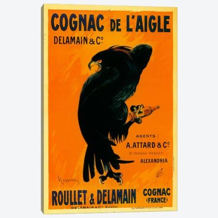 Cognac Laigle Canvas Print #VAC1008} by Vintage Apple Collection Art Print