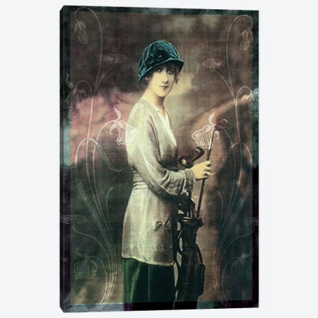 Pretty Golf Girl Canvas Print #VAC1039} by Vintage Apple Collection Canvas Art
