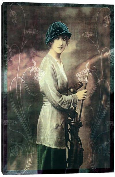 Pretty Golf Girl Canvas Print #VAC1039