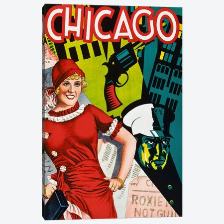 Chicago Red Dress Canvas Print #VAC1076} by Vintage Apple Collection Canvas Print