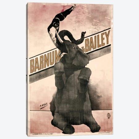 Elephant Gray Barnum & Bailey Canvas Print #VAC1080} by Vintage Apple Collection Art Print