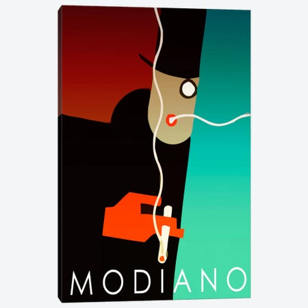 Modiano Cig Canvas Print #VAC108} by Vintage Apple Collection Canvas Artwork