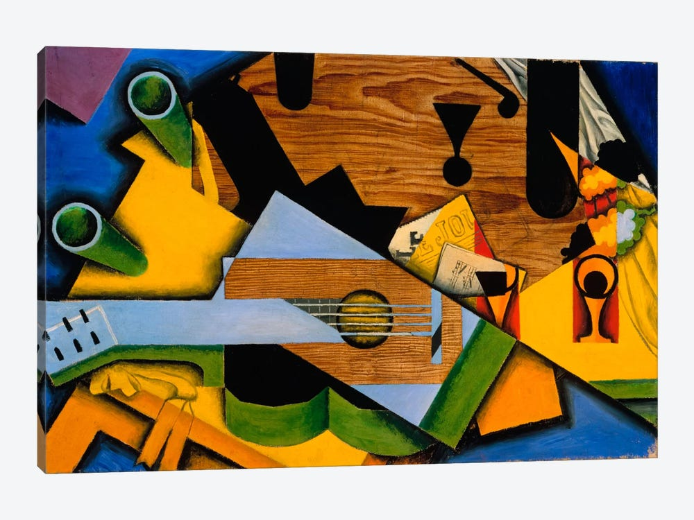 Juan Gris - Still Life With A Guitar by Juan Gris 1-piece Canvas Art