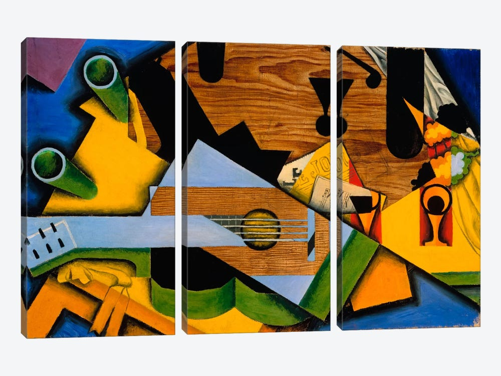 Juan Gris - Still Life With A Guitar by Vintage Apple Collection 3-piece Canvas Art