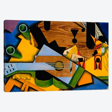 Juan Gris - Still Life With A Guitar Canvas Print #VAC1130} by Juan Gris Canvas Art Print