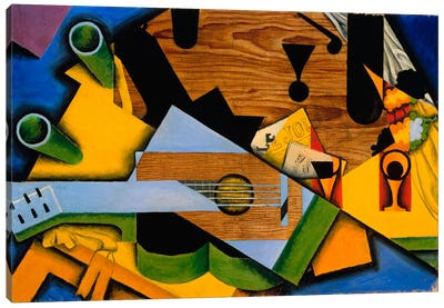 Juan Gris - Still Life With A Guitar Canvas Art Print