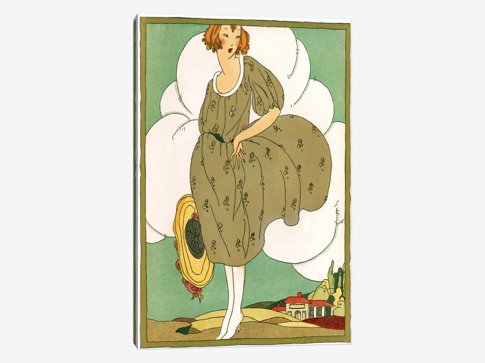 Lady In Green by Vintage Apple Collection 1-piece Art Print