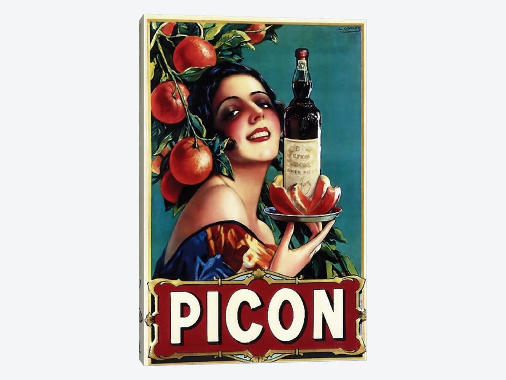 Picon Liquor by Vintage Apple Collection 1-piece Art Print