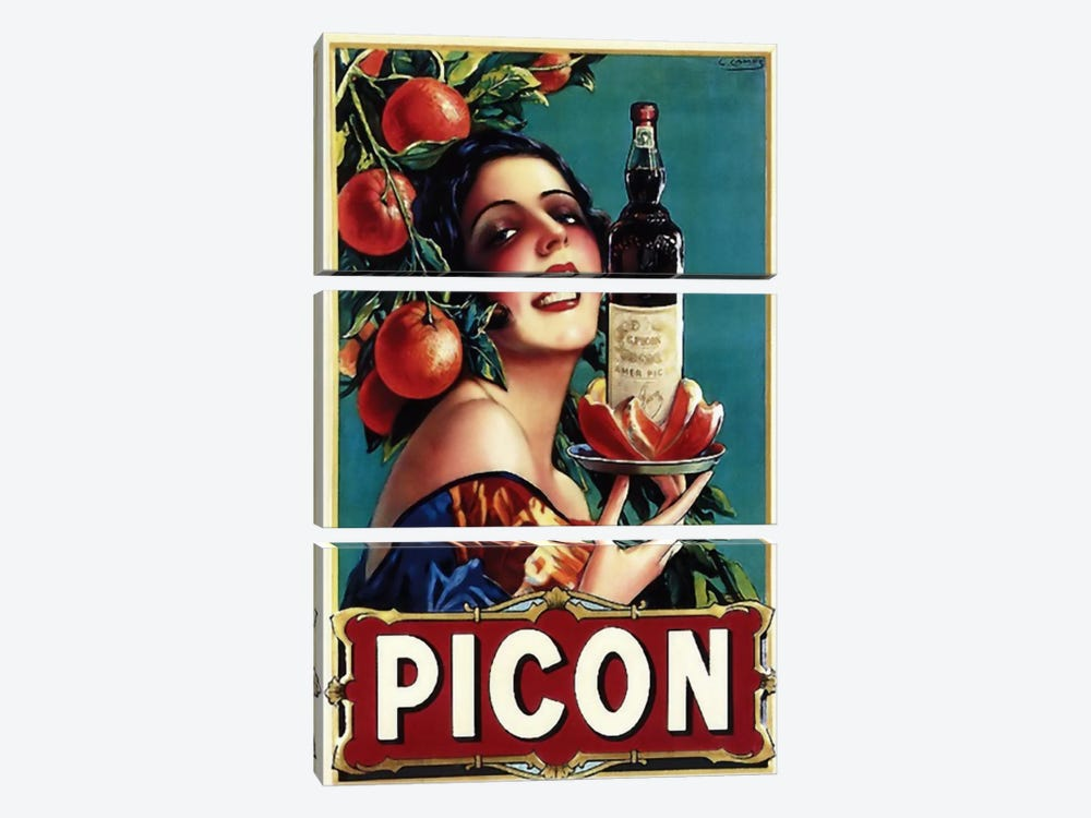 Picon Liquor by Vintage Apple Collection 3-piece Art Print