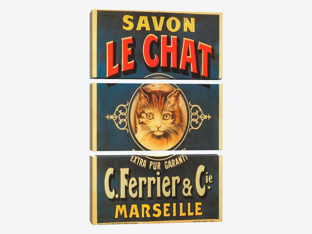 Savon Le Chat by Vintage Apple Collection 3-piece Art Print