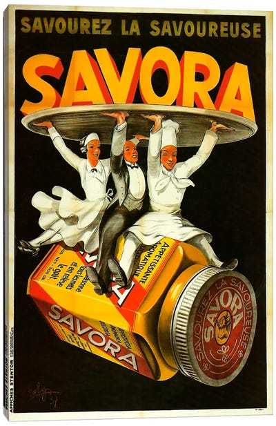 Savora Waiters Canvas Art Print