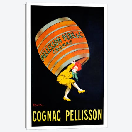 Cognac Pellisson Canvas Print #VAC1199} by Vintage Apple Collection Art Print