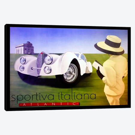 sportiva 3-Piece Canvas #VAC119} by Vintage Apple Collection Canvas Print