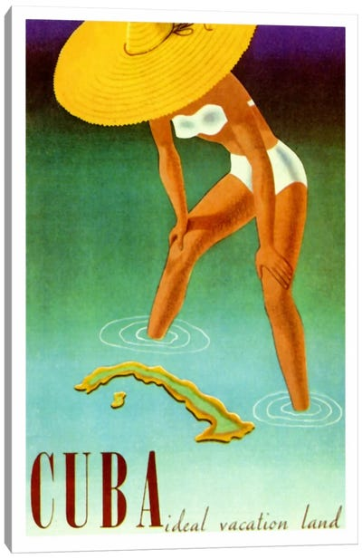 Cuba Ideal Vacation Canvas Art Print
