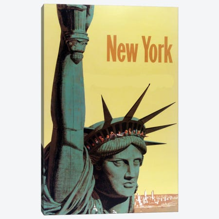 NY Liberty Canvas Print #VAC1269} by Vintage Apple Collection Canvas Art Print