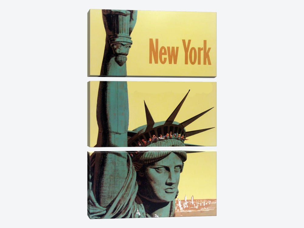 NY Liberty by Vintage Apple Collection 3-piece Canvas Artwork