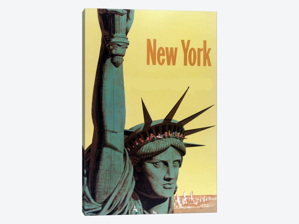 NY Liberty by Vintage Apple Collection 1-piece Canvas Artwork