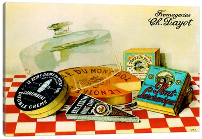 Vintage Cheese - Fromage Canvas Art Print