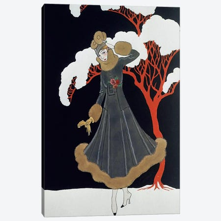 Barbier Dress Canvas Print #VAC1282} by Vintage Apple Collection Canvas Print
