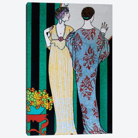 Barbier II Fashion Plaits Canvas Print #VAC1284} by Vintage Apple Collection Canvas Art