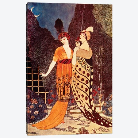 Barbier II Ladies Under The Crescent Moon Canvas Print #VAC1285} by Vintage Apple Collection Canvas Art