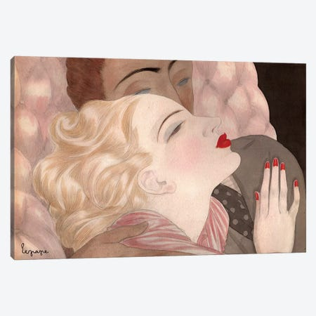 Love By Le Pape Canvas Print #VAC1288} by Vintage Apple Collection Canvas Print