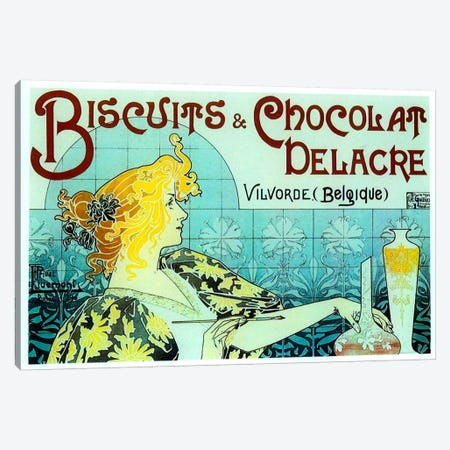 Chocolate Biscuits Canvas Print #VAC128} by Vintage Apple Collection Canvas Wall Art