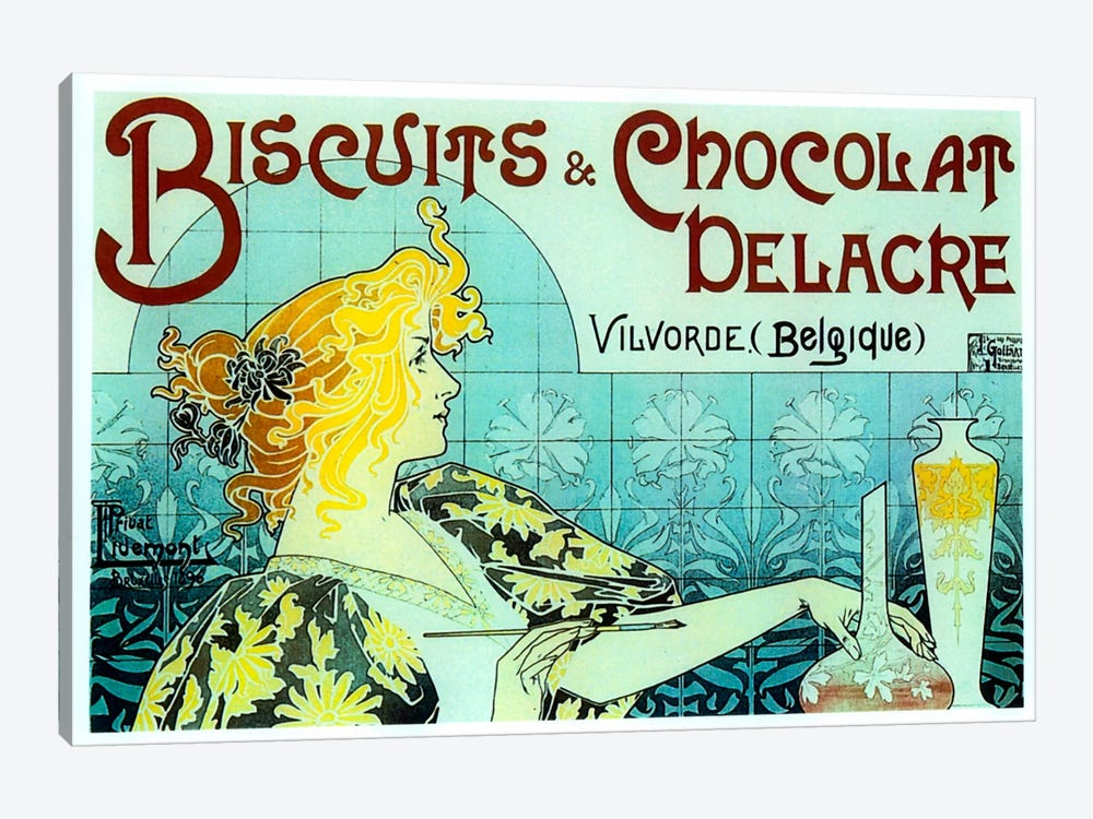 Chocolate Biscuits by Vintage Apple Collection 1-piece Art Print