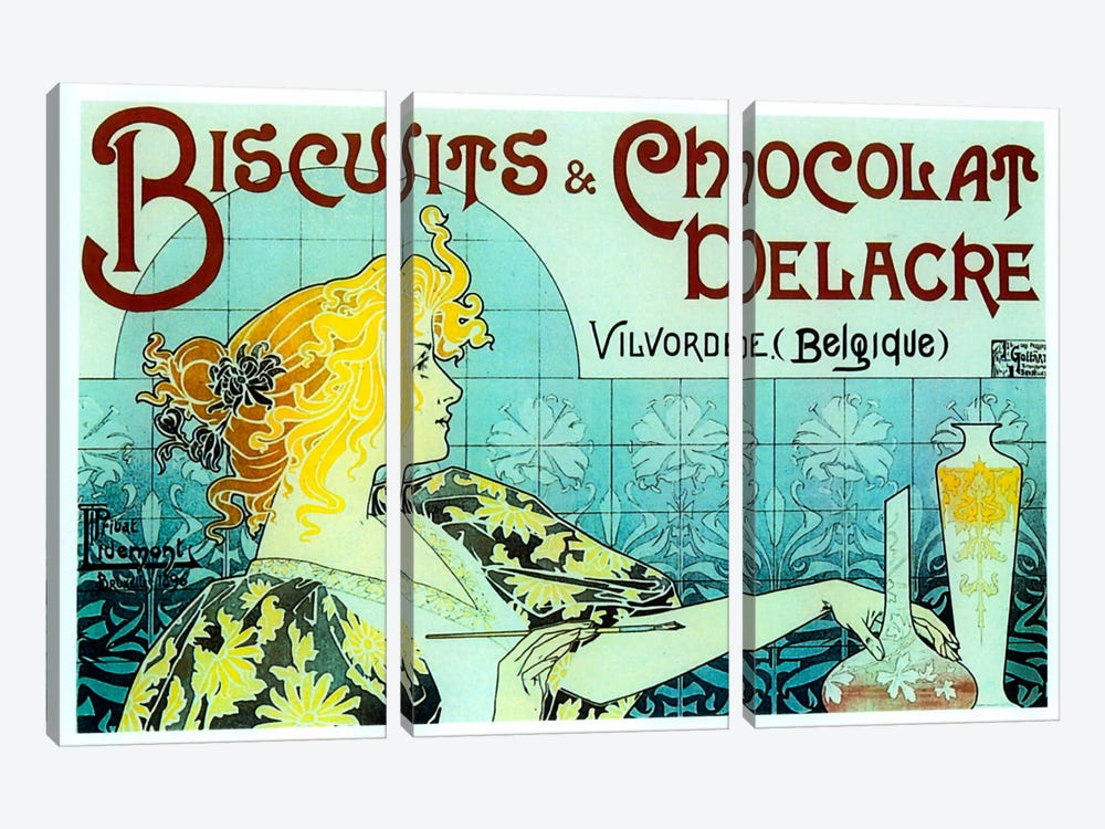 Chocolate Biscuits by Vintage Apple Collection 3-piece Art Print