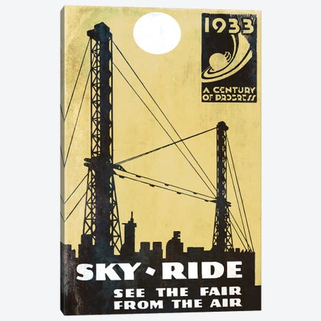 A Century Of Progress, Chicago World's Fair 1933 Sky-Ride Canvas Print #VAC1292} by Vintage Apple Collection Canvas Art