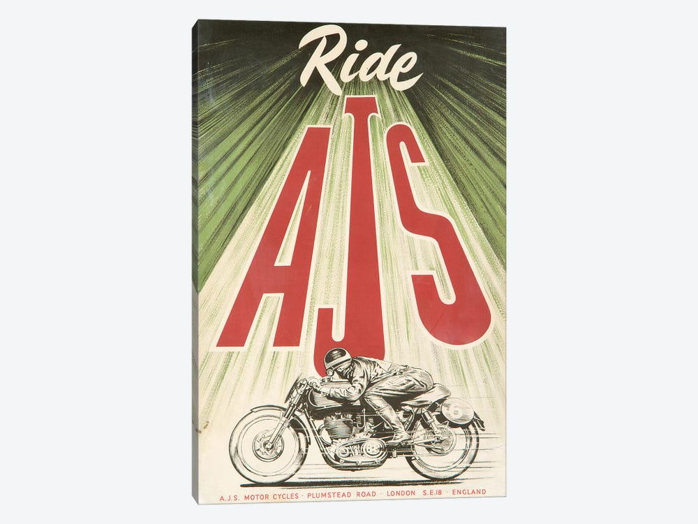 A.J.S. Motorcycles by Vintage Apple Collection 1-piece Art Print