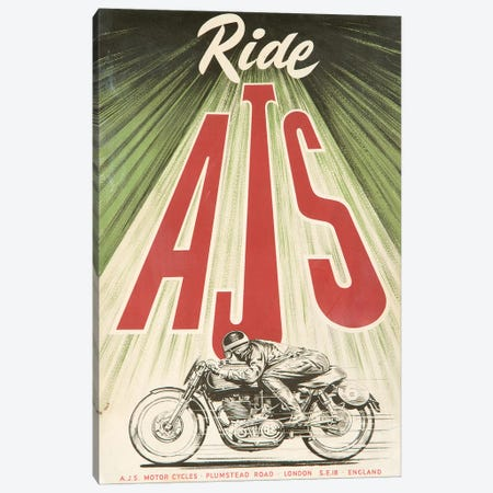A.J.S. Motorcycles Canvas Print #VAC1299} by Vintage Apple Collection Canvas Wall Art