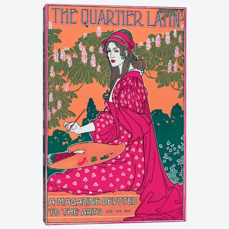 The Quartier Canvas Print #VAC129} by Vintage Apple Collection Canvas Wall Art