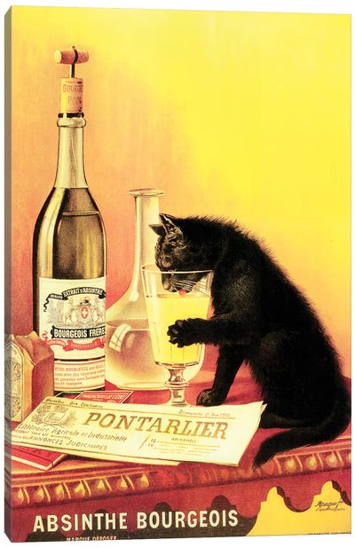 Absinthe Bourgeois Canvas Art Print