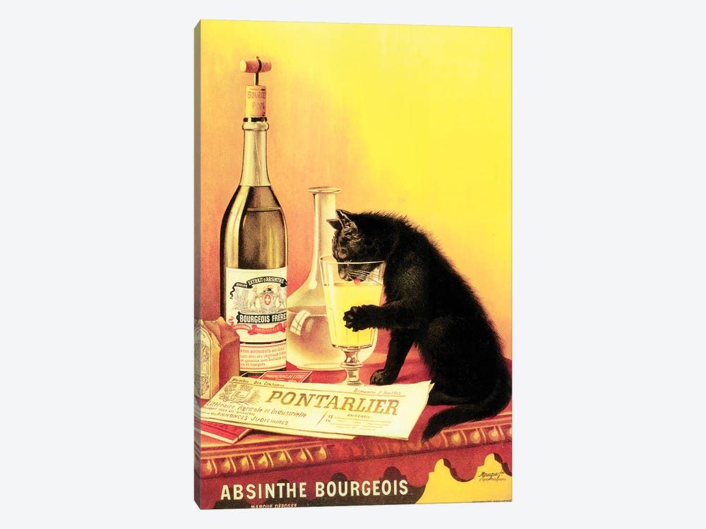 Absinthe Bourgeois by Vintage Apple Collection 1-piece Canvas Print