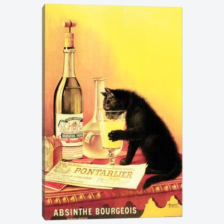 Absinthe Bourgeois Canvas Print #VAC1301} by Vintage Apple Collection Canvas Art