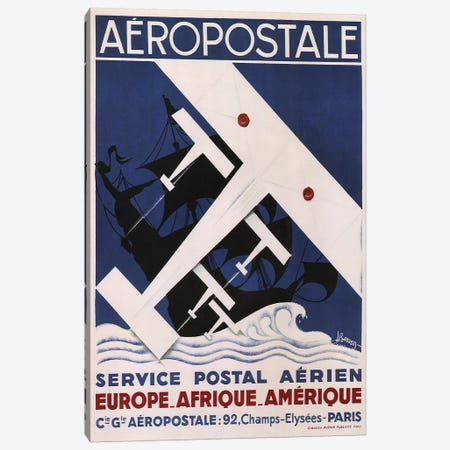 Aéropostale, 1929 Canvas Print #VAC1304} by Vintage Apple Collection Art Print