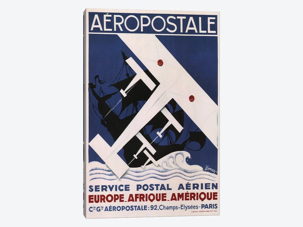 Aéropostale, 1929 by Vintage Apple Collection 1-piece Canvas Art
