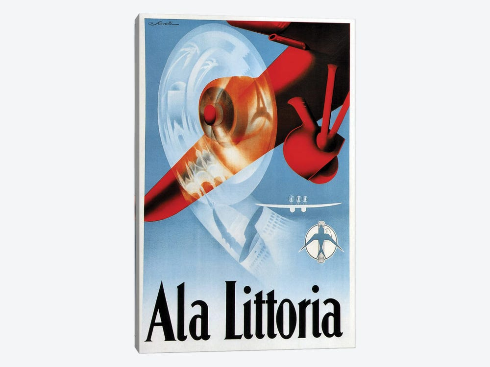 Ala Littoria by Vintage Apple Collection 1-piece Canvas Artwork