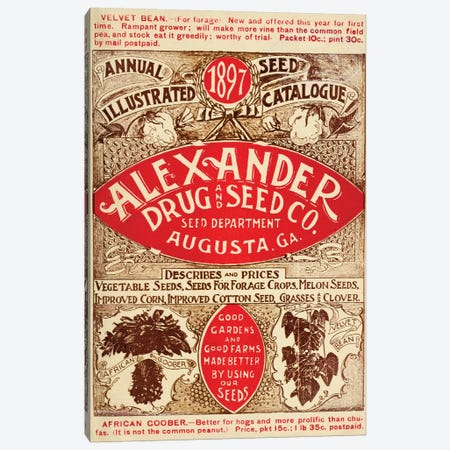 Alexander Drug & Seed Co. Catalogue, 1897 Canvas Print #VAC1314} by Vintage Apple Collection Canvas Artwork