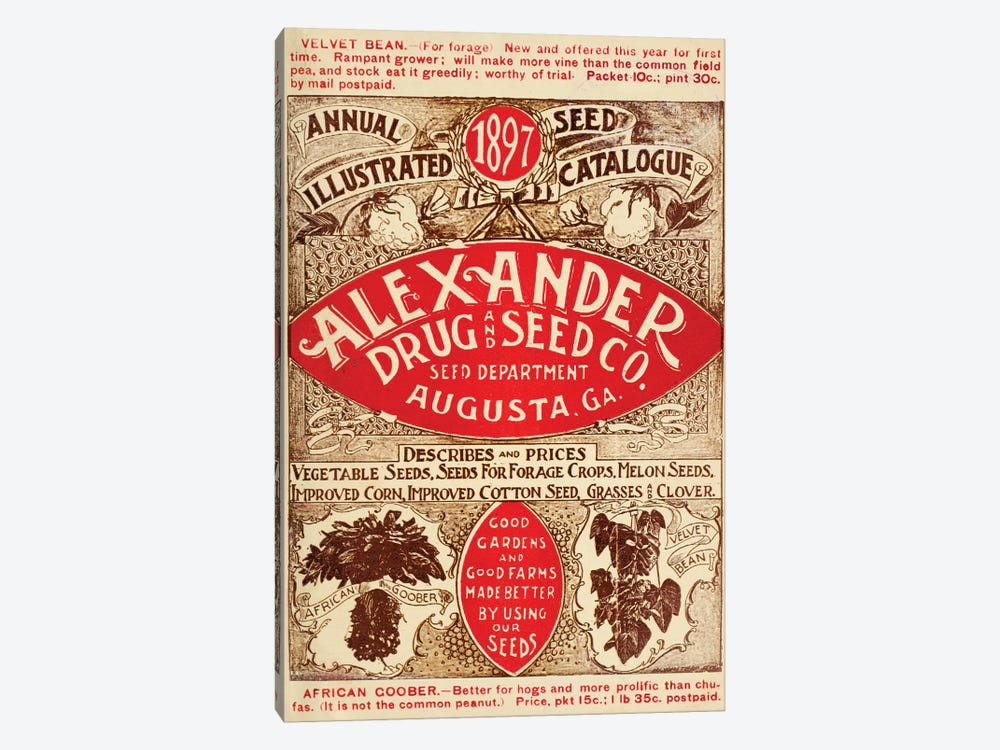 Alexander Drug & Seed Co. Catalogue, 1897 by Vintage Apple Collection 1-piece Canvas Art Print