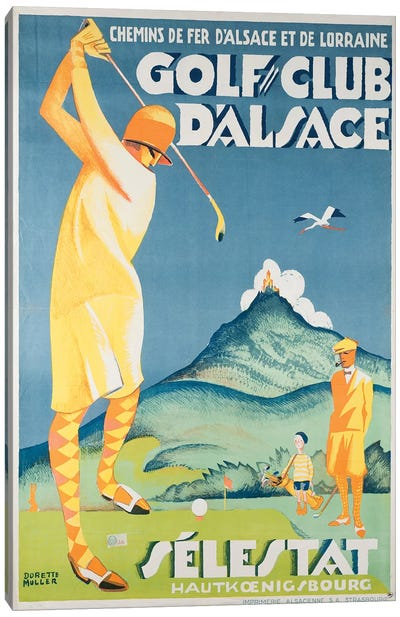 Alsace Golf Canvas Art Print