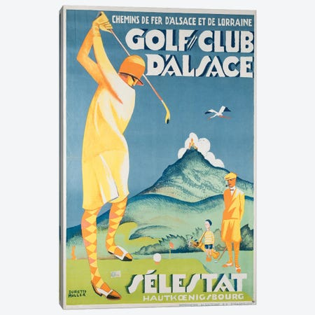 Alsace Golf Canvas Print #VAC1320} by Vintage Apple Collection Canvas Wall Art